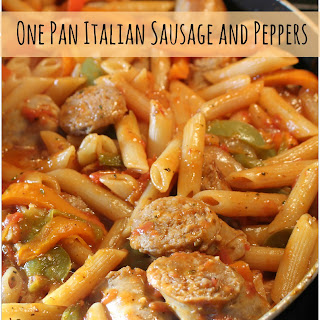One Pan Italian Sausage and Pepper Pasta Recipe