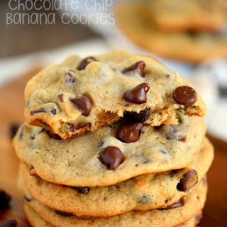 Chocolate Chip Banana Cookies.
