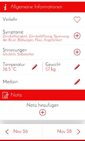 android Perioden-Tagebuch - Kalender Screenshot 2