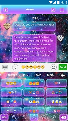 玩免費遊戲APP|下載Glitter Galaxy Eva Keyboard app不用錢|硬是要APP