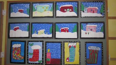 Photo: Third Class Christmas Art