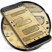SMS Messages Glitter Gold Ribbon Theme