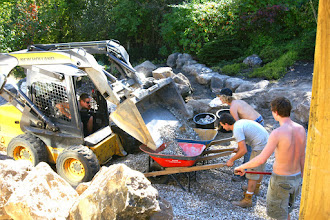 Photo: Careful use of machinery can make a job go smoothly. We only use machinery if it's possible to use it without injuring tree roots.
