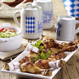 Chicken Drumsticks with Cabbage Slaw.