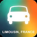 Limousin, França Navegação GPS icon