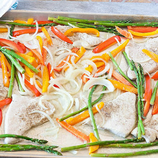 Healthy Sheet Pan Turkey Asparagus Bake