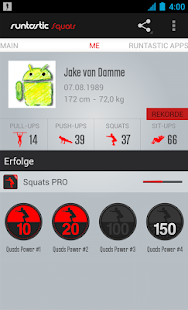 Runtastic Squats PRO Trainer Screenshot