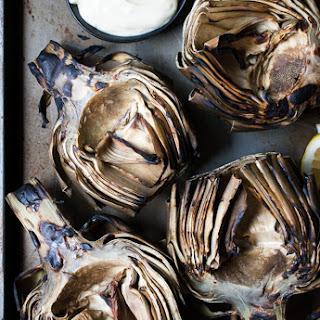 Grilled Artichokes w/ Garlic Lemon Mayo