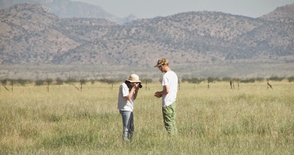 Photo: Ischelle and Damian on the prairie.