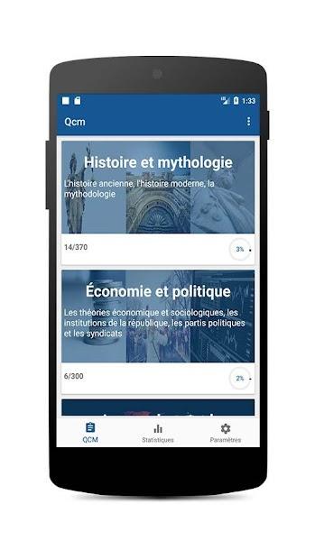 Culture générale pour concours Android App Screenshot