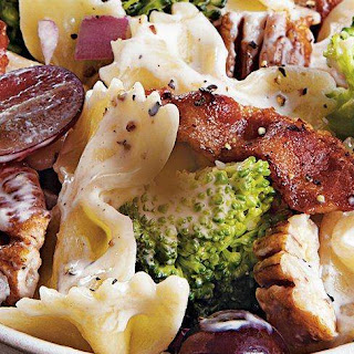 Pasta Salad with Broccoli and Grapes.