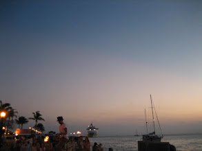 Photo: The sunset celebration in Key West starts at 6 pm and goes on until dark