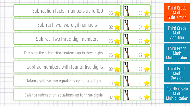 Third grade Math - Subtraction apk screenshot