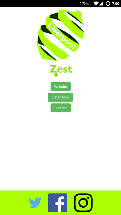 Zest Liverpool App- screenshot