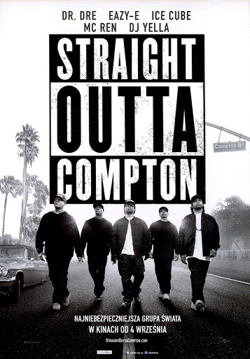 Przód ulotki filmu 'Straight Outta Compton'