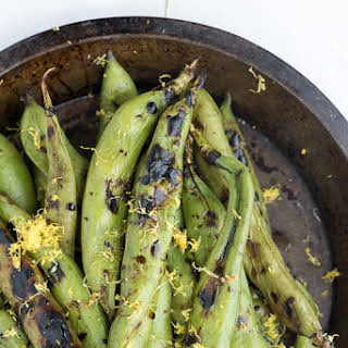 Grilled Fava Beans with Balsamic Vinegar.