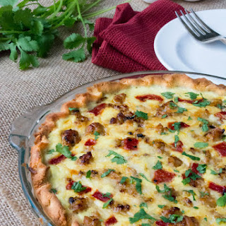 Low Carb Cheesy Italian Sausage Quiche.