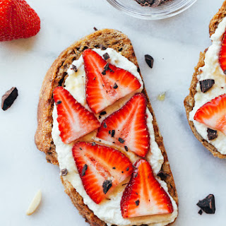 Strawberry Almond Ricotta Toast