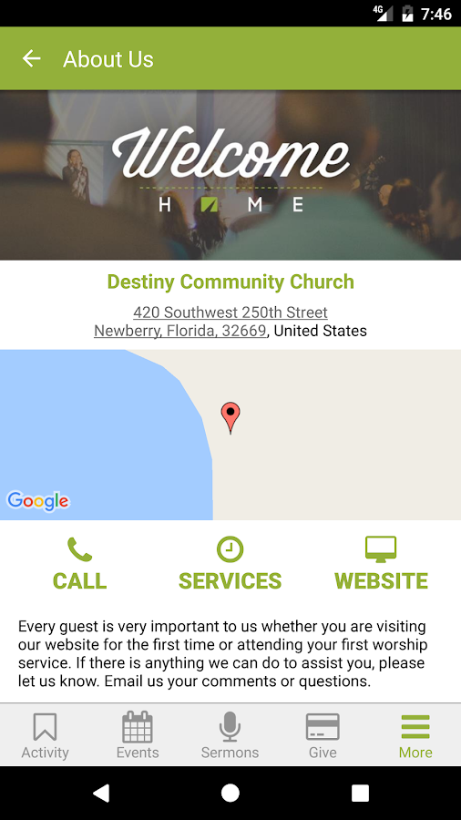 Destiny Community Church.- screenshot