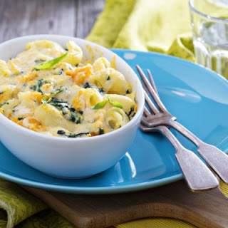Spinach White Mac and Cheese