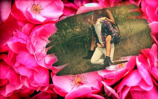꽃 액자를 사랑