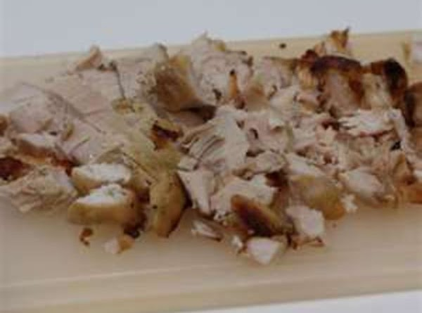 Fold in diced chicken and pour into 9 X 13 baking dish lightly coated...