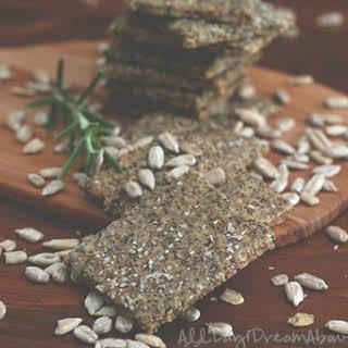 Rosemary Parmesan Chia Seed Crackers.
