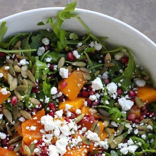 Winter Arugula Salad with Butternut Squash.