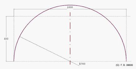 Photo: simple demi cercle contrainte de hauteur non respectée