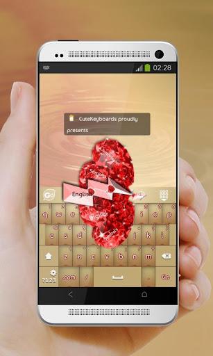 Valentine Diamonds GO Keyboard