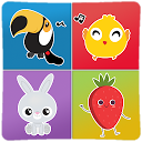 Animals & Fruits matching game for kids APK