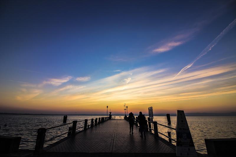 Il Garda in un tramonto di Gennaio di bonimatteo