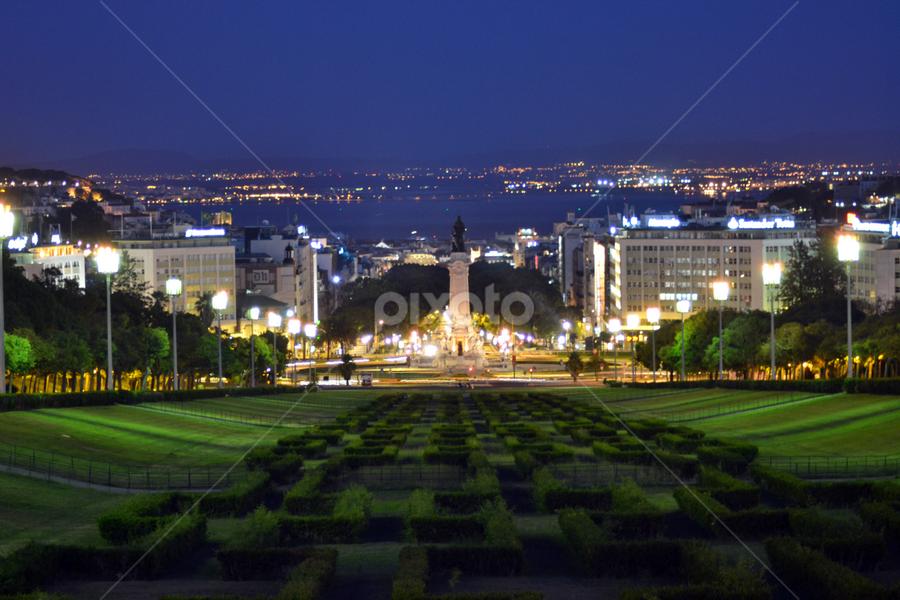 lisboa by Sorin Rizu - City,  Street & Park  City Parks ( city, night,  )