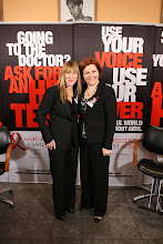 Photo: Hairdressers Against AIDS World AIDS Day Event Christine Schuster, Chair of Hairdressers Against AIDS USA, and NYC Council Speaker Christine Quinn  http://directory.poz.com/articles/HAA_WAD_HIV_2051_21552.shtml