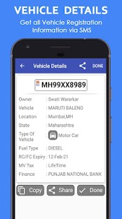 Vehicle Owner Details India - náhled