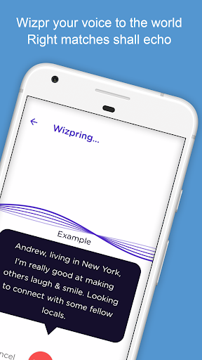 Wizpr - anonymous, listen to chat, text and date 1.0.44 screenshots 1