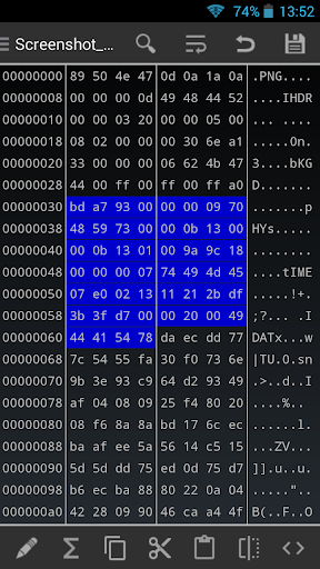 HEX Editor 2.7.7 screenshots 1