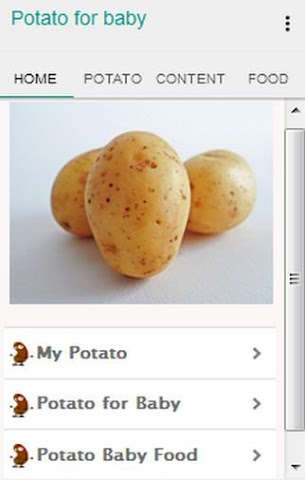 android Potato for Baby Screenshot 0