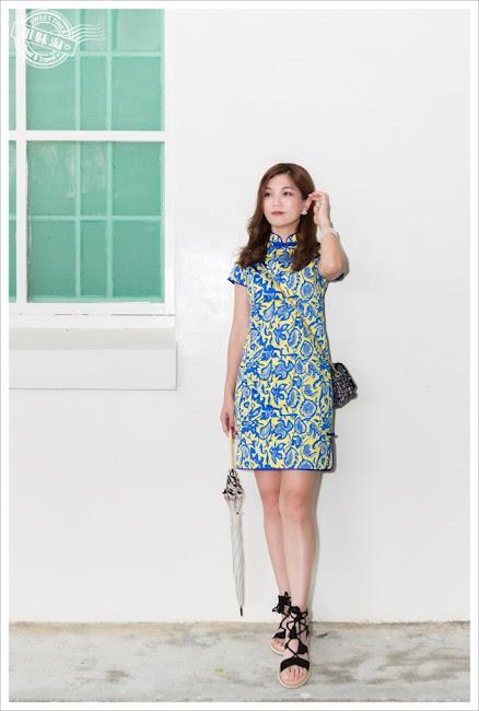 花漾雨蝶的旗袍造型