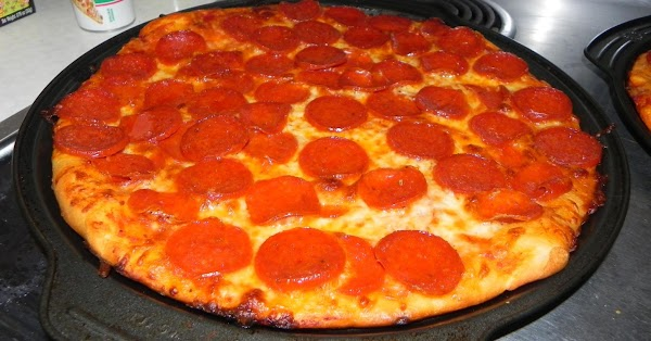 Here is the delicious pizza you made.