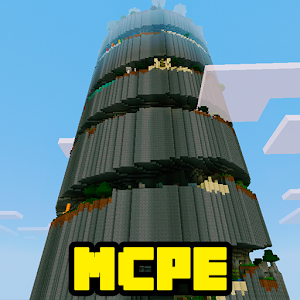 Spiral Parkour MCPE Map for PC