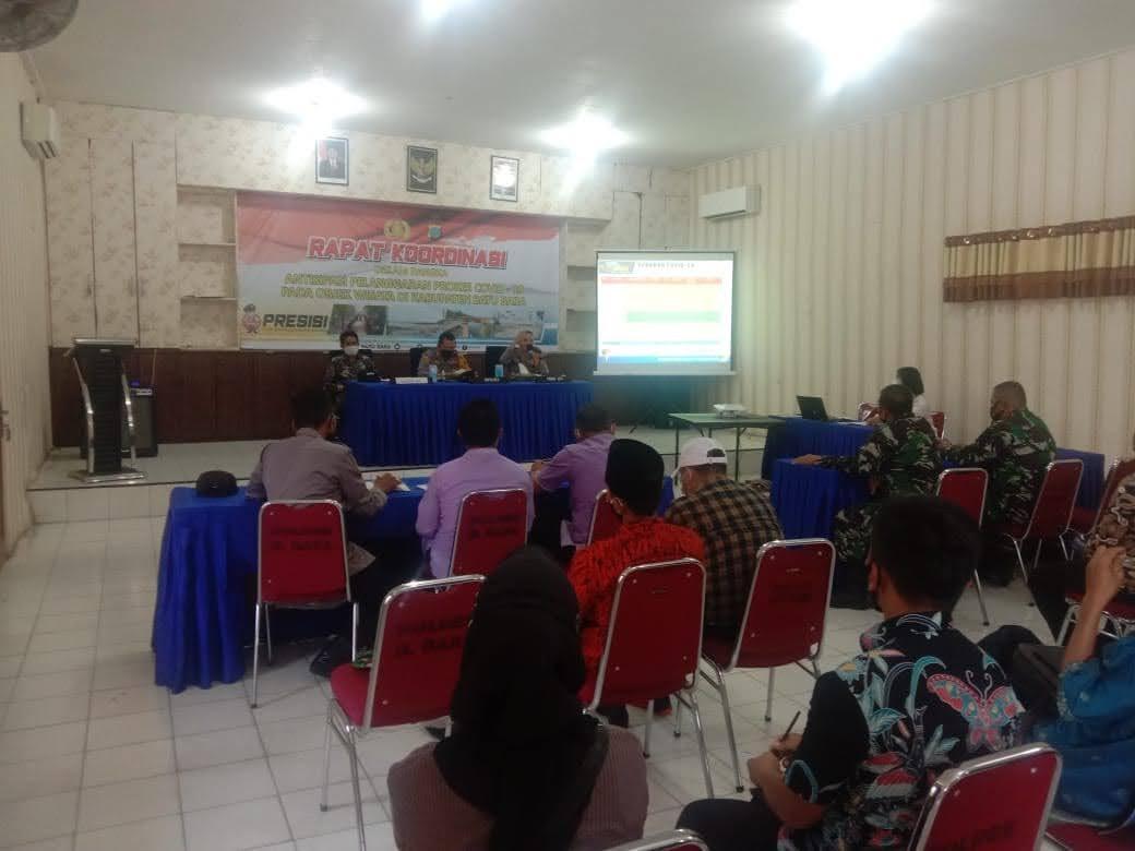 Rapat Koordinasi Antisipasi Pelanggaran Prokes Pada Obyek wisata Kabupaten Batu Bara