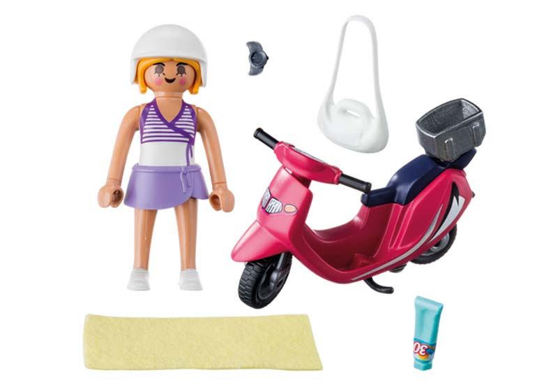 Contenido Real de Playmobil® 9084  Mujer con Scooter