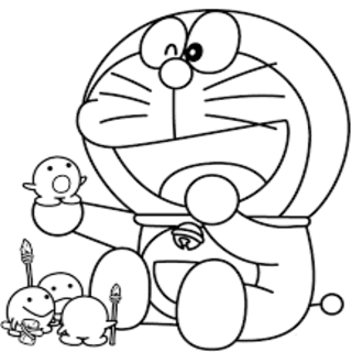 Buku Mewarnai Doraemon Untuk Anak Anak Poster