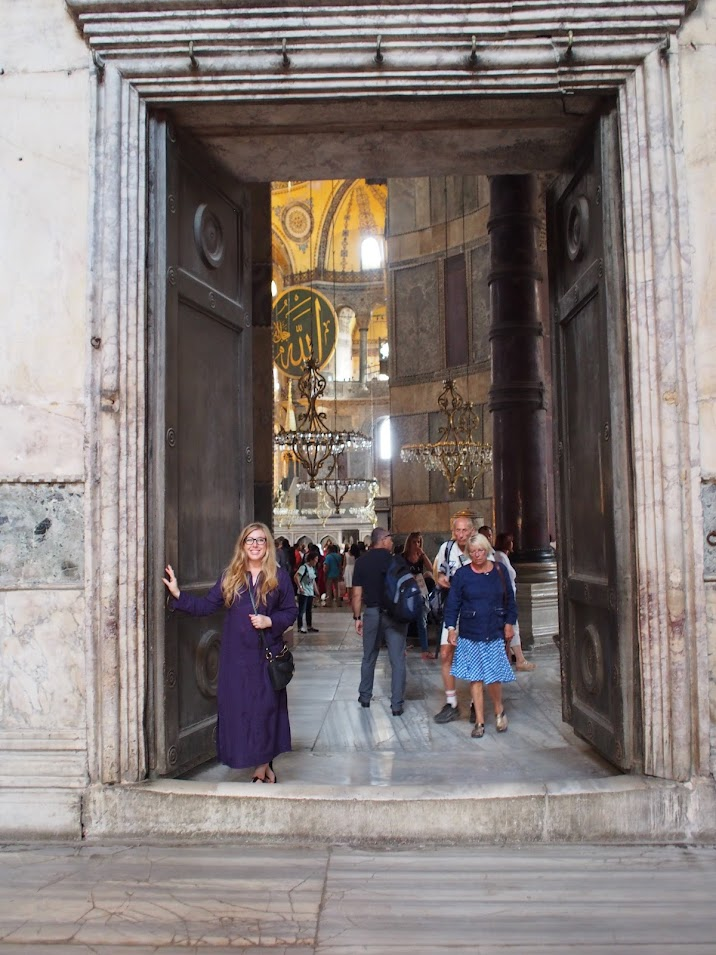 Ashley in Hagia Sophia