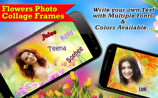 Flowers Photo Collage Frames