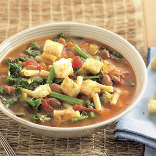 Minestrone with Parmesan Croutons
