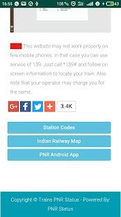 Indian Railways PNR Status Live Enquiry - náhled