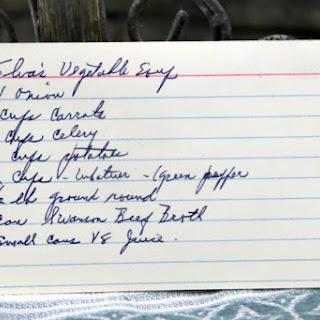 Elva's Vegetable Soup.