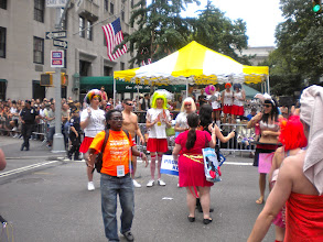 Photo: Reviewing stand.  The Heritage of Pride gay pride march, Fifth Avenue and West 8 Street, Greenwich Village, 26 June 2011. (Photograph by Elyaqim Mosheh Adam.)